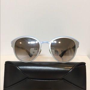 New Dior Sun RCV96 satin sil/Blue Metal Shades